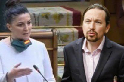 La pregunta de Macarena Olona (VOX) que pone histérico a Pablo Iglesias (PODEMOS)