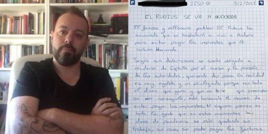 Indignación por el profesor que adoctrina a sus alumnos con artículos de Antonio Maestre criticando a 'El Rubius'