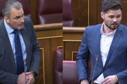 "Ortega Smith (VOX) a Rufián: (ERC): ""La república catalana no existe, imbécil"""