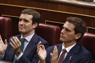Pablo Casado y Albert Rivera se alían para llevar a Pedro Sánchez ante el Tribunal Constitucional