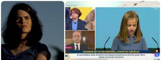 Twitter se mofa de Isa Serra (Podemos) por escandalizarse de que TVE eche al rotulista que atacó a Leonor