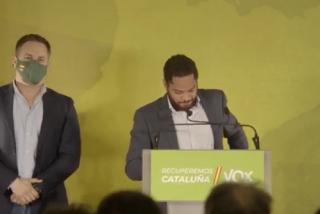 """Ignacio Garriga (VOX): """"Hoy los catalanes nos han convertido en líderes de la oposición"""""""
