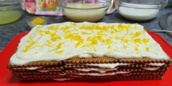 Receta: Cómo hacer tarta de limón y galletas