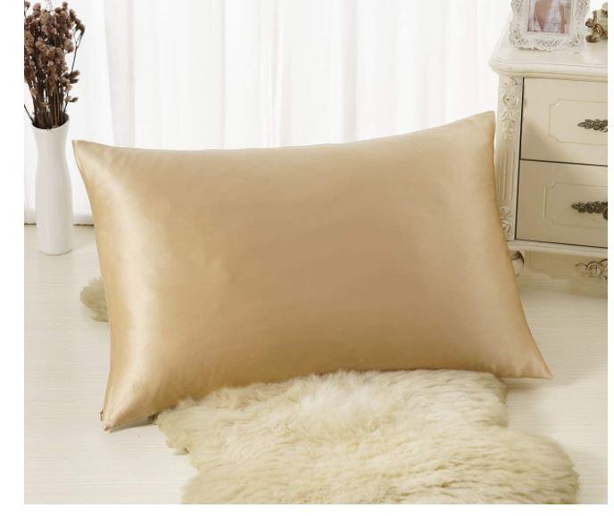 almohada de seda para la piel y el cabello