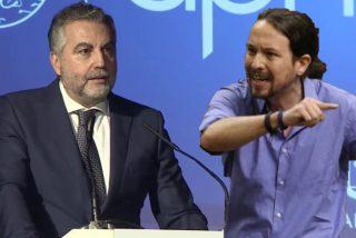 """Alsina reta, ante Felipe VI, a la censura de Podemos: """"El silencio de la prensa es la muerte de la democracia"""""""