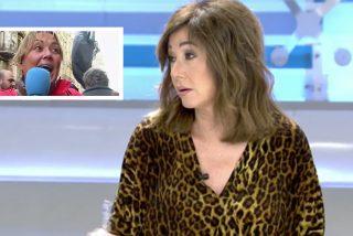 """Ana Rosa corta a Mayka Navarro por meter en directo a una vecina muy borrica: """"Se portaron bien, solo tiraron piedras a la Policía"""""""