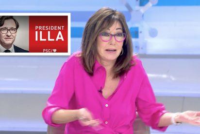 "Ana Rosa Quintana se mofa del cartel electoral de Illa: ""Se han pasado..."""