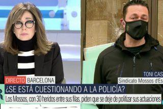 """Los Mossos, abandonados a su suerte por la Generalitat: """"La violencia es salvaje y dirigida al policía"""""""
