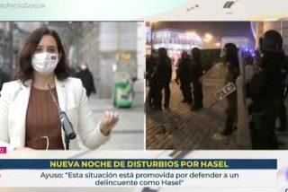 """Díaz Ayuso coge por la pechera a Pedro Sánchez: """"Ponga a Pablo Iglesias fuera de las instituciones"""""""