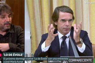 """Aznar le da el sí a Évole, que se lo cobra: """"Usted y yo votamos partidos diferentes y nos gustan Papas diferentes"""""""