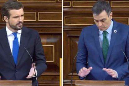 """Casado fotografía a Sánchez: """"Pide aquí unidad, pero no la tiene usted ni dentro de su Gobierno"""""""
