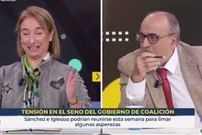 Enric Juliana se pone agresivo y faltón con Paloma Cervilla ante el silencio sepulcral de Mónica López en TVE