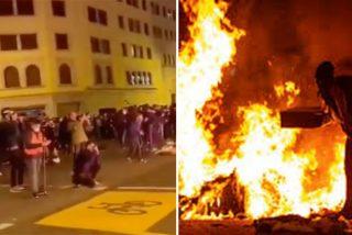 Disturbios en Cataluña, región sin ley: fascistas incendian y apedrean por la detención de Hasel