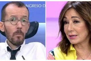 Ana Rosa Quintana destroza a Pablo Echenique por no saludar a Felipe VI y el podemita se rebota