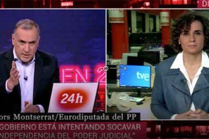 """Dolors Montserrat (PP) frena en seco a 'El Lechero' y su indisimulada defensa del Gobierno de Sánchez: """"¡Eso lo dice usted!"""""""