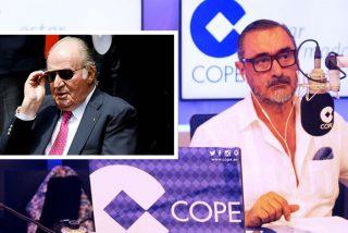 """Carlos Herrera desmiente que el Rey Juan Carlos esté enfermo: """"Hemos hablado esta mañana y está como un oso"""""""