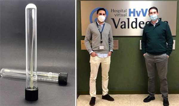 Empresa española lanza al mercado los primeros hisopos de fabricación nacional para los PCR