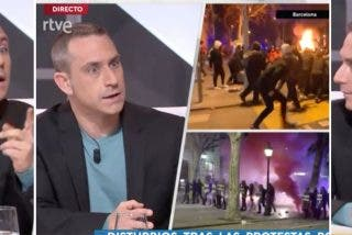 Impresentable: TVE paga a un auténtico hooligan que culpa a la Policía de provocar en los disturbios por Hasel
