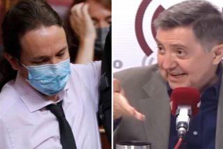 """Apoteósica respuesta de Losantos a los ataques de Iglesias desde el Congreso: """"Eres vago, mentiroso y muy poquita cosa"""""""