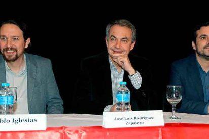 """El chavista Zapatero se apunta al ataque contra la democracia de la mano de iglesias: """"No me parece mal el debate"""""""