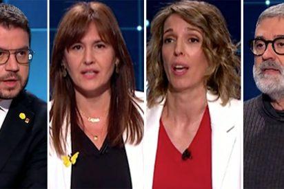 Vergüenza en la televisión pública nacional: los candidatos independentistas se niegan a hablar español