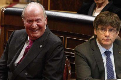 Un ataque independentista a Juan Carlos I hace peligrar el 'sueldo' de los expresidentes catalanes