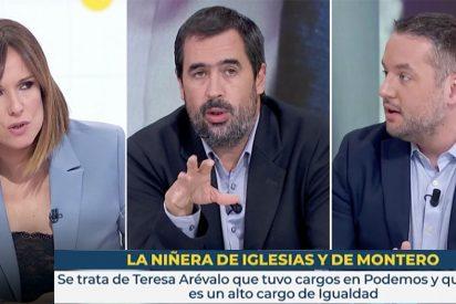 Contorsiones de Carlos Cué en TVE para justificar el pufo de la asesora-niñera de los jefes podemitas
