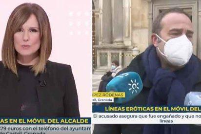 TVE, al rescate: Enric Hernández y Mónica López ocultan que el alcalde 'guarrete' es del PSOE