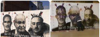 Unos valientes sabotean el mural dedicado en Barcelona al enaltecedor de etarras Pablo Hasel