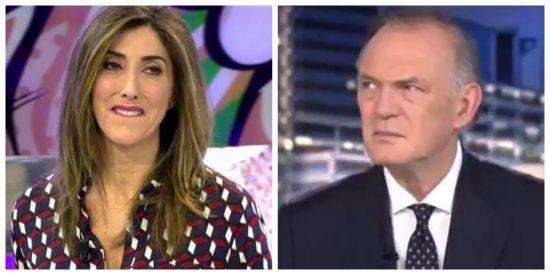 Definición de vergüenza ajena: la cara de Pedro Piqueras viendo a Paz Padilla bailar en 'Sálvame'
