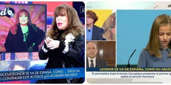 TVE es el hazmerreír de la competencia: el 'Deluxe' (Telecinco) se mofa del vomitivo rótulo contra Leonor