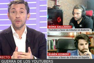 """El youtuber Roma Gallardo destroza de tal manera a Javier Ruiz en Cuatro que lo deja lamentándose: """"Yo te sigo y estoy tocado"""""""