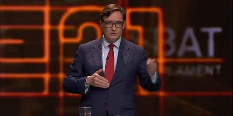 Salvador Illa (PSC) se negó a hacerse una PCR antes del debate de la TV3