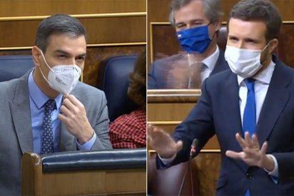 """Casado saca la hemeroteca en el Congreso para masacrar a Sánchez: """"¿Cuándo va a cesar a Iglesias?"""""""