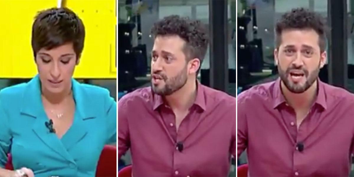 """Esperpento en Telemadrid: el reportero llega sin aliento para contar algo """"flipante"""" y es una filfa"""