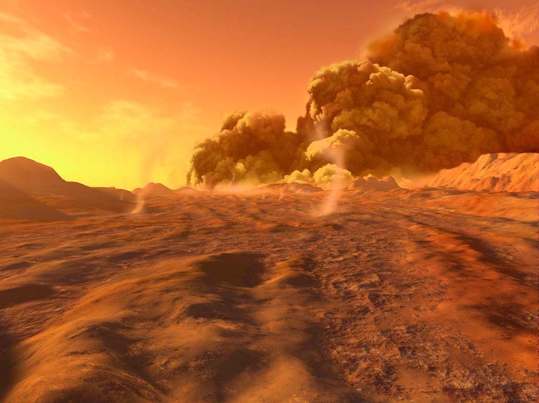 La NASA mapea casi 15.000 tormentas de polvo en Marte en apenas 8 años