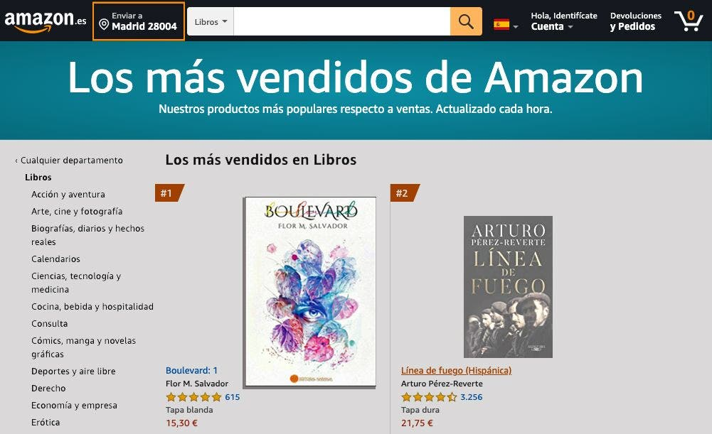 Boulevard, cómo un libro llega a ser el más vendido en Amazon sin tener ni un ejemplar impreso
