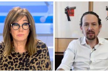 La impagable reacción de Ana Rosa Quintana al saber que Pablo Iglesias deja de ser vicepresidente