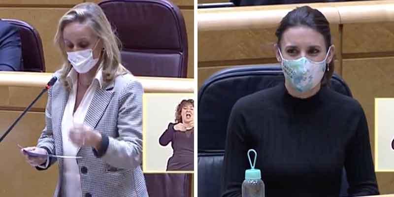 "Ana Camíns (PP), a Irene Montero: ""Ayuso ha conseguido ser presidenta sin ser la mujer de nadie"""