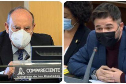 """El coronel Pérez de los Cobos pone firme a un insolente Rufián: """"No me va a intimidar con el Código Penal"""""""