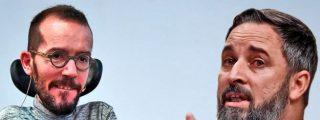 """Santiago Abascal: """"Pobre Echenique, exhibiendo su vocación frustrada de chivato del KGB"""""""