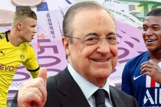 'Defensa Central' revela que Florentino quiere marcar la próxima década con nuevo estadio, Haaland y Mbappé