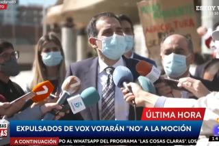 Los tres diputados expulsados de VOX reducen a escombros la moción de censura de Ciudadanos en Murcia
