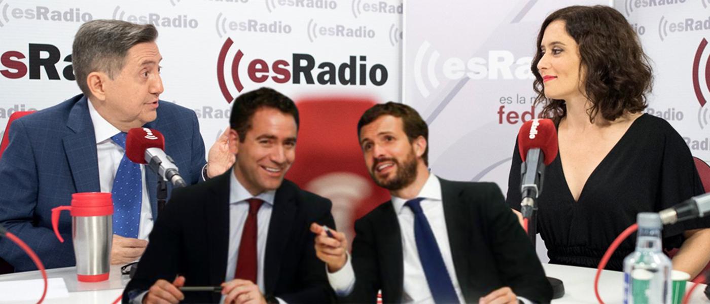 """El contundente aviso de Losantos a Casado y Egea: """"¡Dejad a Ayuso en paz!"""""""