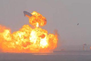 La nave Starship SpaceX, del millonario Elon Musk, explota justo después de aterrizar