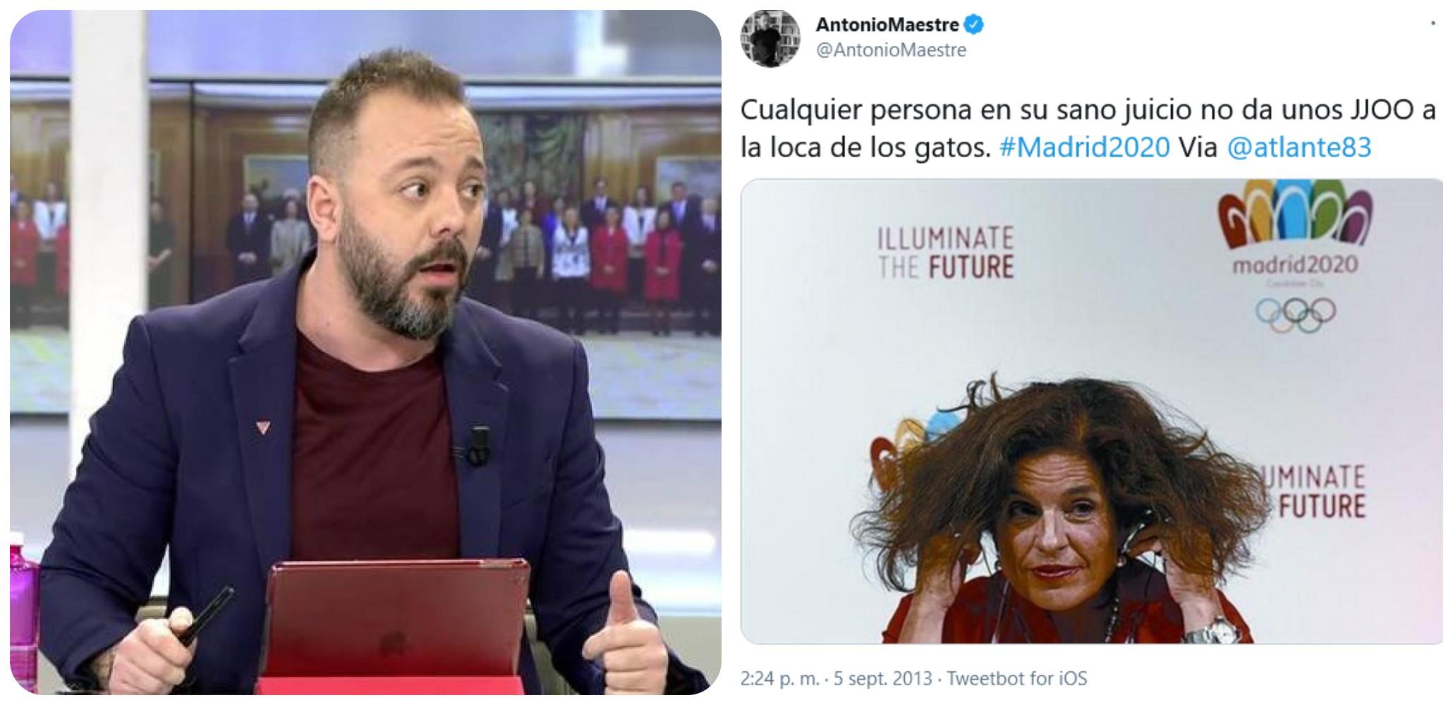 """'Ofendidito' Antonio Maestre, ¿ya no te acuerdas de cuando llamaste """"loca de los gatos"""" a Ana Botella?"""