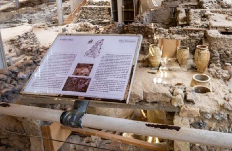 Restos de encontrados en la Isla de Santorini
