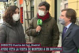 Momentazo en laSexta: Martínez-Almeida se cuela en la entrevista callejera a Díaz Ayuso para 'silenciar' al enviado de Ferreras