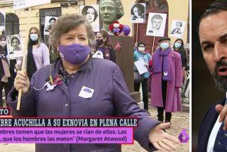 """Santiago Abascal sacude a Cristina Almeida: """"Sectarias y fanáticas que se atreven a decir quién es más o menos mujer"""""""