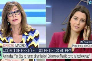 """Ana Rosa aprieta de lo lindo a Arrimadas: """"La culpa no es de Ayuso, ¡ustedes encendieron la mecha!"""""""